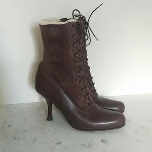 DONALD J PLINER - shearling fur and leather boots